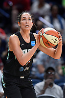 Washington, DC - August 25, 2019: New York Liberty forward Rebecca Allen (9) about to shoot the ball during first half action of game between the New York Liberty and the Washington Mystics at the Entertainment and Sports Arena in Washington, DC. The Mystics defeated New York 101-72. (Photo by Phil Peters/Media Images International)