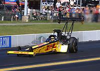 Sep 15, 2019; Mohnton, PA, USA; NHRA top fuel driver Richie Crampton during the Reading Nationals at Maple Grove Raceway. Mandatory Credit: Mark J. Rebilas-USA TODAY Sports