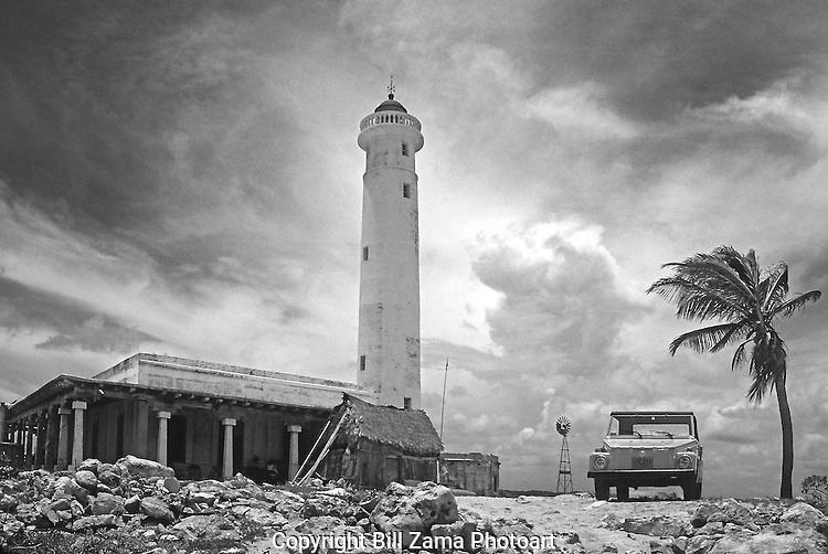 Punta Celarain Lighthouse in Cozumel Mexico