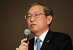 December 27, 2016, Tokyo, Japan - Japan's troubled electronics giant Toshiba president Satoshi Tsunakawa speaks before press at the company's headquarters in Tokyo on Friday, January 27, 2017. Toshiba will spin off its semiconductor business to raise funds as Toshiba's nuclear subsidiary Westinghouse had a massive loss in the US business.   (Photo by Yoshio Tsunoda/AFLO) LWX -ytd-