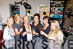 To Martha! Martha Fleming and her staff toasts her new Unisex Hair Salon in Killorglin l-r: Joanne O'Shea, Marian O'Shea, Philla Browne, Martha Fleming, Amy O'Shea and Kirstie Devane