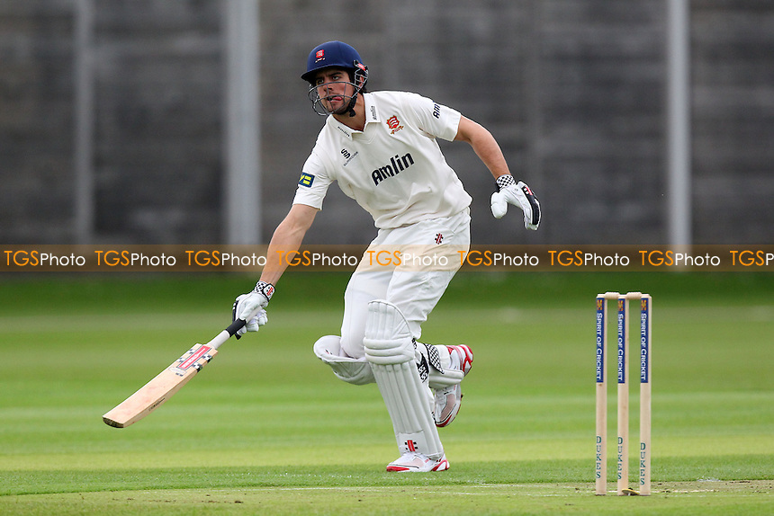 Alastair Cook of Essex and England in batting action as he completes a run - Cambridge MCCU vs Essex CCC - Pre-Season Friendly Cricket Match at Fenners Ground, Cambridge - 07/04/14 - MANDATORY CREDIT: Gavin Ellis/TGSPHOTO - Self billing applies where appropriate - 0845 094 6026 - contact@tgsphoto.co.uk - NO UNPAID USE