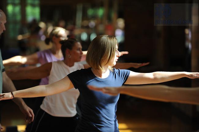 Yoga class, Rockne Memorial..Photo by Matt Cashore/University of Notre Dame