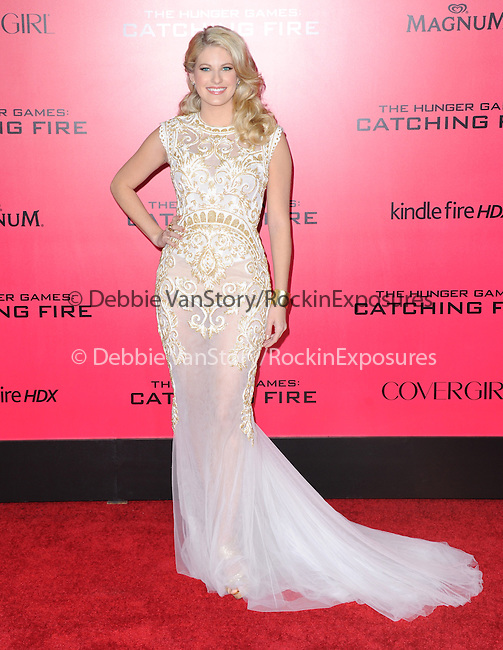 LOS ANGELES, CA - NOVEMBER 18: Stephanie Leigh Schlund arrives at   THE HUNGER GAMES: CATCHING FIRE L.A. Premiere held at Nokia Live  in Los Angeles, California on November 18,2012                                                                               © 2013  Hollywood Press Agency