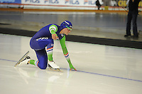 SPEEDSKATING: CALGARY: Olympic Oval, 07-03-2015, ISU World Championships Allround, 500m Men, val Koen Verweij (NED), ©foto Martin de Jong