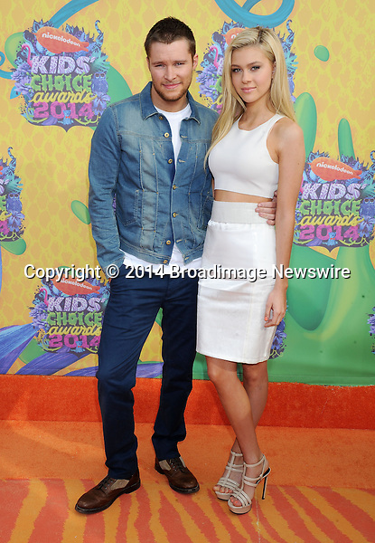 Pictured: Jack Reynor and Nicola Peltz<br /> Mandatory Credit &copy; Gilbert Flores/Broadimage<br /> Nickelodeon Kids' Choice Awards 2014<br /> <br /> 3/29/14, Los Angeles, California, United States of America<br /> <br /> Broadimage Newswire<br /> Los Angeles 1+  (310) 301-1027<br /> New York      1+  (646) 827-9134<br /> sales@broadimage.com<br /> http://www.broadimage.com