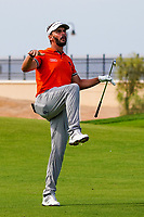 Joost Luiten (NED)(Karate Kid) on the 9th during Round 4 of the Saudi International at the Royal Greens Golf and Country Club, King Abdullah Economic City, Saudi Arabia. 02/02/2020<br /> Picture: Golffile | Thos Caffrey<br /> <br /> <br /> All photo usage must carry mandatory copyright credit (© Golffile | Thos Caffrey)