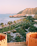 OMAN, Muscat, Barr Al Jissa resort and spa by beach, elevated view