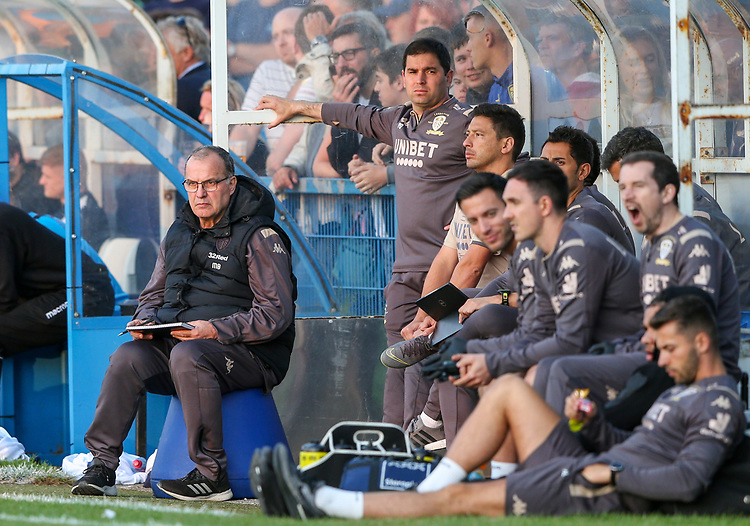 Leeds United manager Marcelo Bielsa watches on<br /> <br /> Photographer Alex Dodd/CameraSport<br /> <br /> Football Pre-Season Friendly - Guiseley v Leeds United - Thursday July 11th 2019 - Nethermoor Park - Guiseley<br /> <br /> World Copyright © 2019 CameraSport. All rights reserved. 43 Linden Ave. Countesthorpe. Leicester. England. LE8 5PG - Tel: +44 (0) 116 277 4147 - admin@camerasport.com - www.camerasport.com