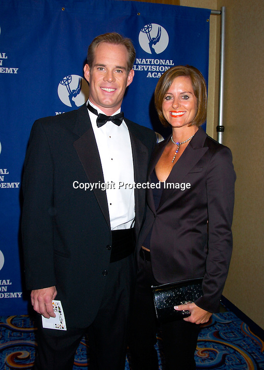 Joe Buck of Fox Sports and wife Ann ..at The 25th Annual Sports Emmy Awards held on april 19, 2004 at the Marriott Marquis Hotel. Photo by Robin Platzer, Twin Images