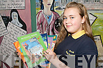 ATTENDANCE RECORD: Laura Byrne  from Scoil Eoin Baiste in Tralee who never missed a day at school in eight years..