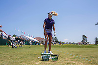 PINEHURST, NC - JUNE 15: Natalie Gulbis on the practice tee. Women's open is here next week. Scenes from the U.S. Open Championship at Pinehurst, North Carolina on Sunday, June 15, 2014. (Photo by Landon Nordeman)