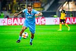 09.08.2019, Merkur Spiel-Arena, Düsseldorf, GER, DFB Pokal, 1. Hauptrunde, KFC Uerdingen vs Borussia Dortmund , DFB REGULATIONS PROHIBIT ANY USE OF PHOTOGRAPHS AS IMAGE SEQUENCES AND/OR QUASI-VIDEO<br /> <br /> im Bild | picture shows:<br /> Einzelaktion | Torschuss Selim Guenduez (KFC Uerdingen #3), <br /> <br /> Foto © nordphoto / Rauch