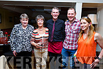 Helen Foran, Marteen Tarrant, Vinnie Murphy (Brogue Inn), Zeb Austin and Maria Hayes, enjoying the hospitality evening in the Brogue Inn on Tuesday evening
