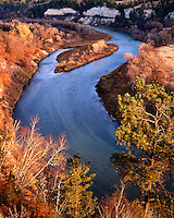 Sunrise light on fall color along the National Wild & Scenic Niobrara River; Cherry County, NE