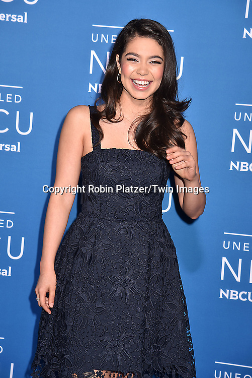 Auli'l Cravalho  of &quot;Rise&quot; attend the NBCUNIVERSAL 2017 UPFRONT on May 15, 2017 at Radio City Music Hall in New York, New York, USA.<br /> <br /> photo by Robin Platzer/Twin Images<br />  <br /> phone number 212-935-0770