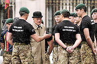 02 August 2017 - London, England - Prince Philip Duke of Edinburgh attending the Captain General's Parade as his final individual public engagement, at Buckingham Palace in London. The Duke will meet Royal Marines who have completed a mammoth 1,664 mile trek on Wednesday, his final official royal event before he retires from public engagements. Photo Credit: Alpha Press/AdMedia