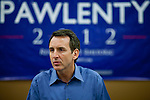 Republican presidential hopeful Tim Pawlenty campaigns on Tuesday, July 26, 2011 in Washington, IA.