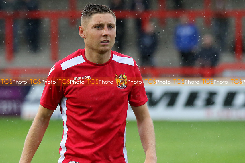 Harry Beautyman of Stevenage pre-match during Stevenage vs Norwich City, Friendly Match Football at the Lamex Stadium on 11th July 2017