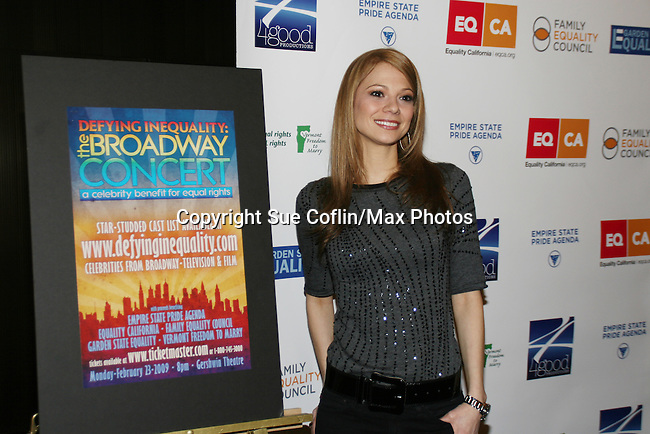 Tamara Braun - AMC & poster participates in Defying Inequality: The Broadway Concert - A Celebrity Benefit for Equal Rights  on February 23, 2009 at the Gershwin Theatre, New York, NY. (Photo by Sue Coflin)