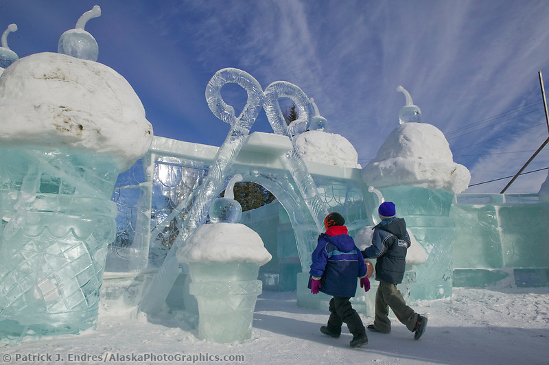 Kiddie Park, 2004 World Ice Art Championships, Fairbanks Alaska.
