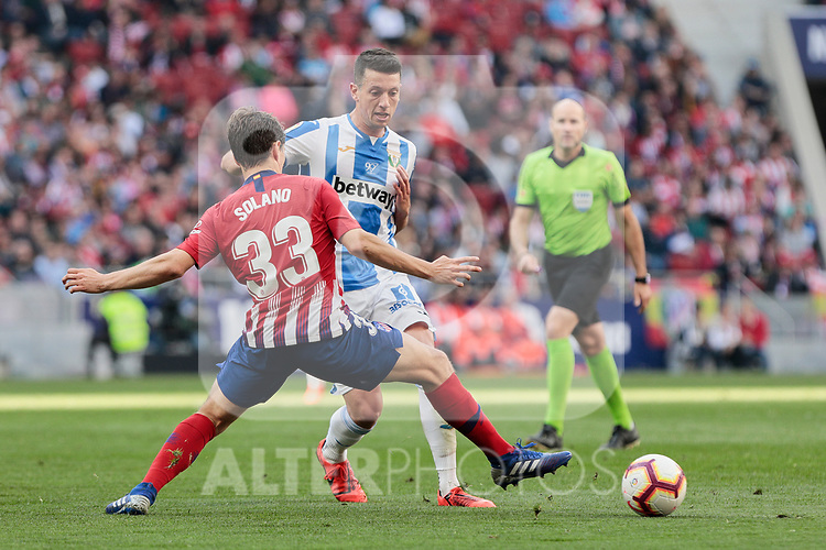Atletico de Madrid's Andres Felipe Solano during La Liga match between Atletico de Madrid and CD Leganes at Wanda Metropolitano stadium in Madrid, Spain. March 09, 2019. (ALTERPHOTOS/A. Perez Meca)