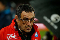 Maurizio Sarri  during the SSC Napoli vs Atalanta, serie A  soccer match at  San Paolo Stadium in Naples , Italy 25 February 2017 Photo: Ciro De Luca ciro de luca<br />   +39 02 43998577 sales@silverhubmedia.it