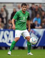 FUSSBALL   1. BUNDESLIGA   SAISON 2011/2012   TESTSPIEL SV Werder Bremen - Olympiakos Piraeus             26.07.2011 Sokratis PAPASTATHOPOULOS (Bremen) am Ball