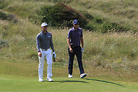 Haydn Porteous (RSA) and Nicolas Colsaerts (BEL) on the 4th during Round 1 of the Aberdeen Standard Investments Scottish Open 2019 at The Renaissance Club, North Berwick, Scotland on Thursday 11th July 2019.<br /> Picture:  Thos Caffrey / Golffile<br /> <br /> All photos usage must carry mandatory copyright credit (© Golffile | Thos Caffrey)