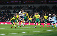 Tottenham Hotspur's Jan Vertonghen scores his side's first goal  <br /> <br /> Photographer Rob Newell/CameraSport<br /> <br /> The Emirates FA Cup Fifth Round - Tottenham Hotspur v Norwich City - Wednesday 4th March 2020 - Tottenham Hotspur Stadium - London<br />  <br /> World Copyright © 2020 CameraSport. All rights reserved. 43 Linden Ave. Countesthorpe. Leicester. England. LE8 5PG - Tel: +44 (0) 116 277 4147 - admin@camerasport.com - www.camerasport.com