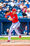 28 February 2017: Washington Nationals infielder Trea Turner in Spring Training action during the inaugural game against the Houston Astros at the Ballpark of the Palm Beaches in West Palm Beach, Florida. The Nationals defeated the Astros 4-3 in Grapefruit League play. Mandatory Credit: Ed Wolfstein Photo *** RAW (NEF) Image File Available ***