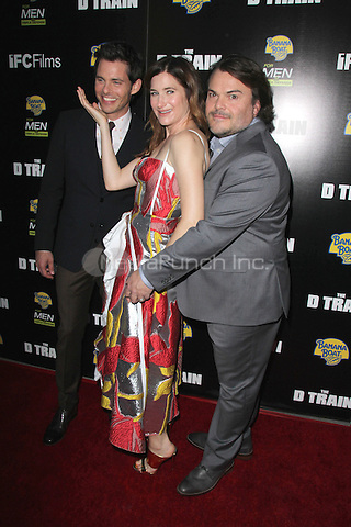 "HOLLYWOOD, CA - APRIL 27: James Marsden, Kathryn Hahn, Jack Black at the ""D Train"" Los Angeles Premiere at the Arclight in Hollywood, California on April 27, 2015. Credit: Dave Edwards/DailyCeleb/MediaPunch"