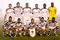 LA Galaxy Starting eleven. The LA Galaxy defeated the Columbus Crew 3-1 at Home Depot Center stadium in Carson, California on Saturday Sept 11, 2010.