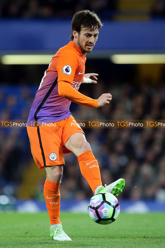 David Silva of Manchester City during Chelsea vs Manchester City, Premier League Football at Stamford Bridge on 5th April 2017