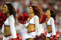 Sept. 27, 2009; Glendale, AZ, USA; Arizona Cardinals cheerleader performs during the game against the Indianapolis Colts at University of Phoenix Stadium. Indianapolis defeated Arizona 31-10. Mandatory Credit: Mark J. Rebilas-