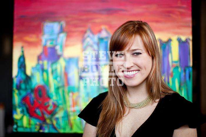 Philadelphia painter Britt Miller on December 23, 2010 in Philadelphia, Pennsylvania...2010 © Steve Boyle