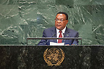 His Excellency Augustine Phillip MAHIGA Minister for Foreign Affairs and East African Cooperation of the United Republic of Tanzania