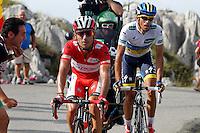 Alberto Contador and Joaquin Purito Rodriguez (l) during the stage of La Vuelta 2012 between La Robla and Lagos de Covadonga.September 2,2012. (ALTERPHOTOS/Paola Otero) /NortePhoto.com<br /> <br /> **CREDITO*OBLIGATORIO** <br /> *No*Venta*A*Terceros*<br /> *No*Sale*So*third*<br /> *** No*Se*Permite*Hacer*Archivo**<br /> *No*Sale*So*third*