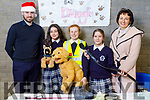 Pierce Lonergan, Michelle Burke, Caoimhe Scanlon, Olivia Key and Katherina Broderick (Principal) at the Student Entreprise Awards in the Presentation Secondary school, Casleisland on Friday.