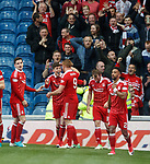 Ryan Christie celebrates Aberdeen's second goal