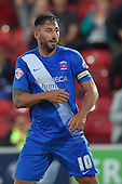 11/08/2015 Capital One Cup, First Round Fleetwood Town v Hartlepool United<br /> Billy Paynter, celebrates after scoring the winner for Hartlepool United