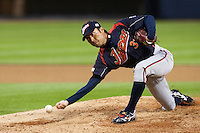 17 March 2009: #31 Shunsuke Watanabe of Japan pitches against Korea during the 2009 World Baseball Classic Pool 1 game 4 at Petco Park in San Diego, California, USA. Korea wins 4-1 over Japan.