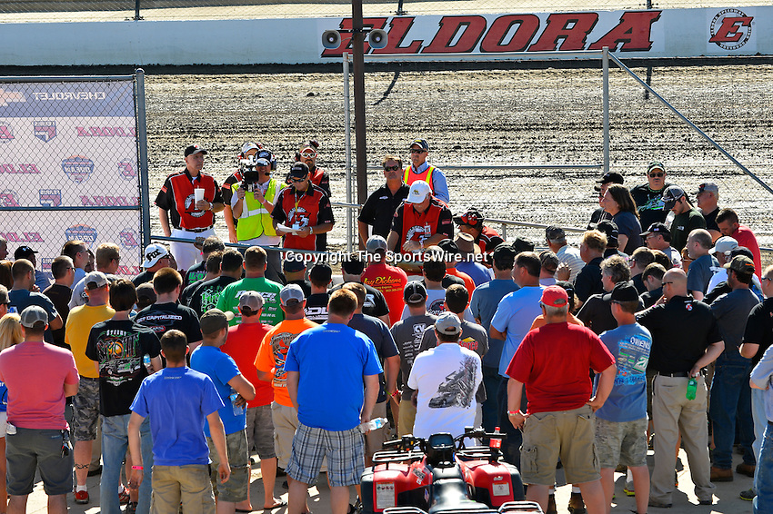 Jun 5, 2014; 4:06:01 PM; Rossburg, OH., USA; The 20th annual Dirt Late Model Dream XX in an expanded format for Eldora's $100,000-to-win race includes two nights of double features, 567 laps of action  Mandatory Credit:(thesportswire.net)