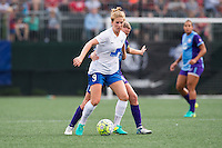 Allston, MA - Sunday July 31, 2016: Natasha Dowie, Becky Edwards during a regular season National Women's Soccer League (NWSL) match between the Boston Breakers and the Orlando Pride at Jordan Field.