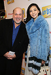 Frank Wildhorn and Yoka Wao  attends the Broadway Opening Night Performance of 'In Transit'  at Circle in the Square Theatre on December 11, 2016 in New York City.