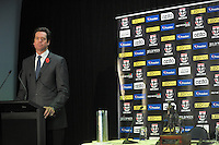 AFL deputy chief executive Gillon McLaughlan during the St Kilda Saints v Sydney Swans press conference at the Aotea Lounge, Westpac Stadium, Wellington, New Zealand on Wednesday, 24 May 2013. Photo: Dave Lintott / lintottphoto.co.nz