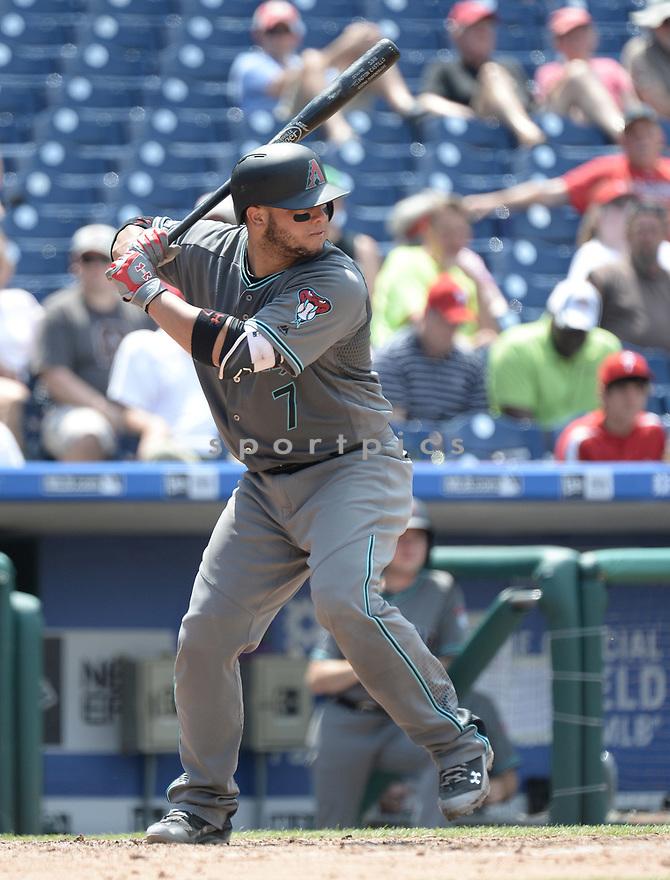 Arizona Diamondbacks Welington Castillo (7) during a game against the Philadelphia Phillies on June 20, 2016 at Citizens Bank Park in Philadelphia, PA. The Diamondbacks beat the Phillies 3-1.
