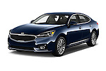 2017 KIA Cadenza Premium 4 Door Sedan Angular Front stock photos of front three quarter view