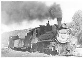 RGS 4-6-0 #20 with gondola and long caboose #0404.<br /> RGS