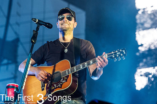 Eric Church performs at the 2nd Annual BottleRock Napa Festival at Napa Valley Expo in Napa, California.